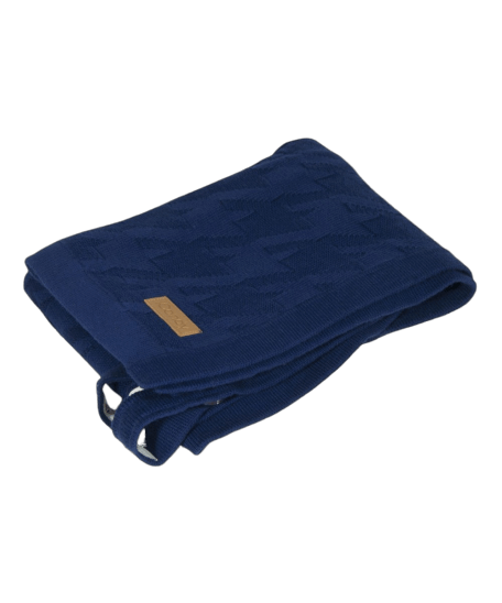iCandy Blanket - Dogtooth Navy Blue